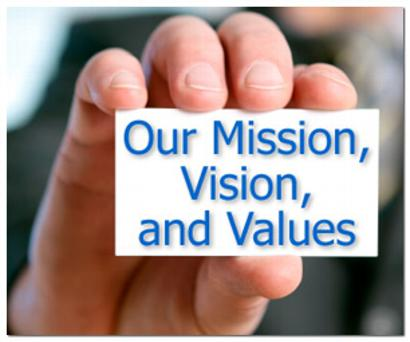Values, Mission